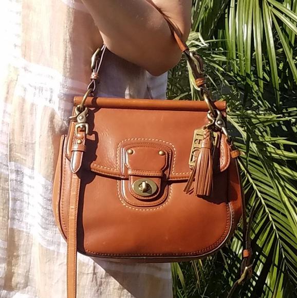 Coach Handbags - Coach leather crossbody saddle bag